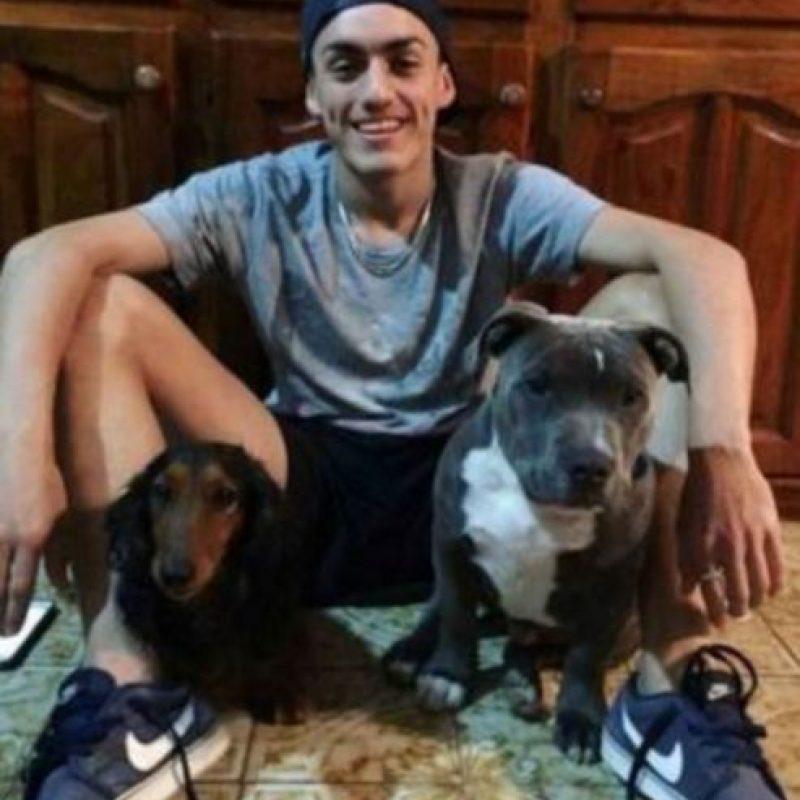 Marino con sus mascotas. Foto:Facebook