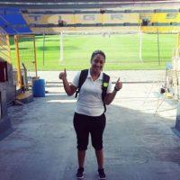 Leslie Fareaux, la fisoterapeuta que volvió locos a los regios en la Concachampions Foto:Instagram