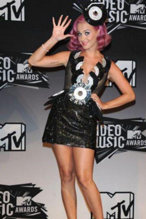 Katy Perry en 2011 como una Oompa Loompa gótica. Foto:Getty Images