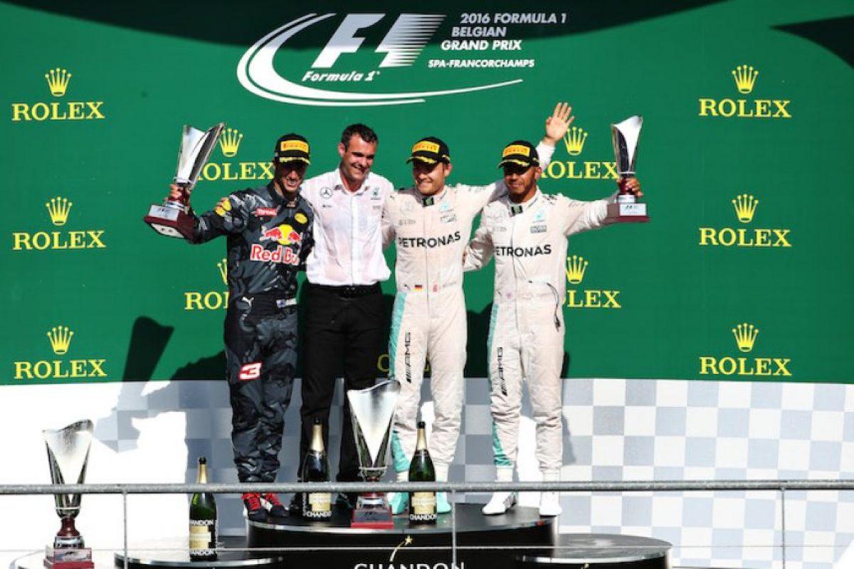 Nico Rosberg se impuso en el GP de Bélgica Foto:Getty Images