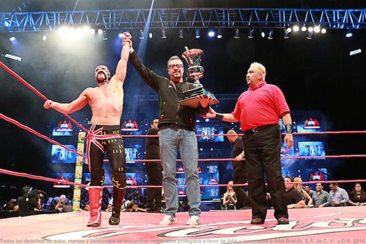 En la primera lucha, Australian Suicide ganó la Copa Triplemanía, al derrotar en la gran final a Daga. Foto:AAA