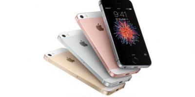 El iPhone más reciente es el SE. Foto:Apple