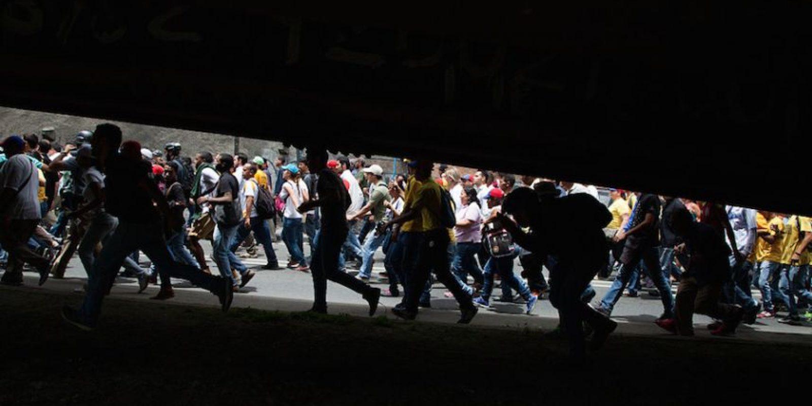 La marcha opositora convocada prevé movilizar este jueves al antichavismo en todo el país para presionar a las autoridades electorales Foto:Getty Images/ Archivo