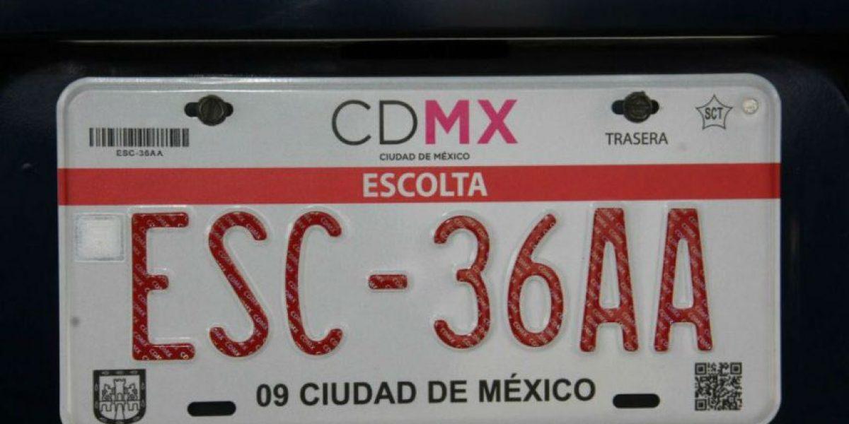 Escoltas, obligados a tener placa especial en la CDMX
