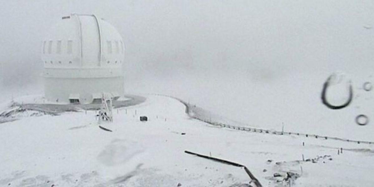 Gran nevada cubre Hawái