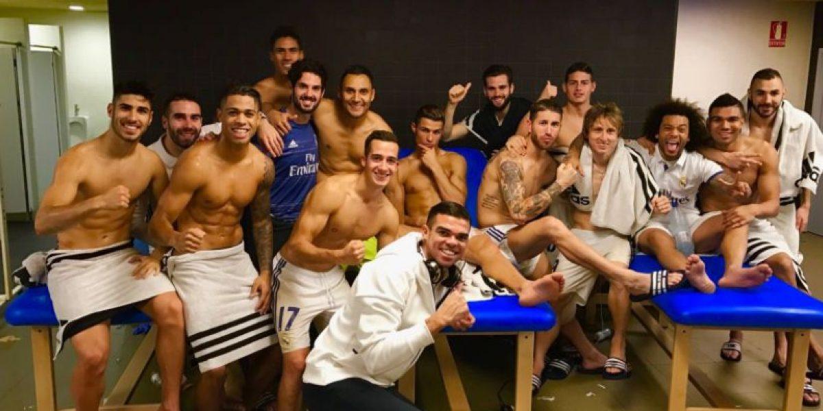 Real Madrid celebra empate ante el Barça con peculiar imagen