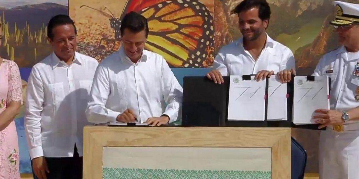 EPN decreta al Caribe Mexicano como área natural protegida