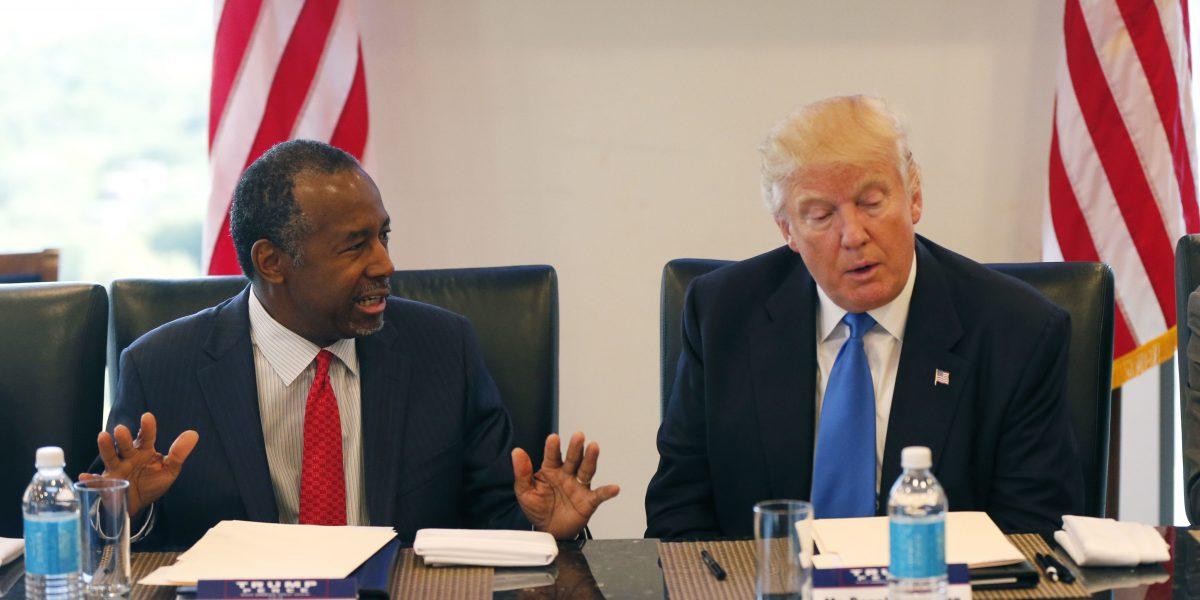 Donald Trump nomina al cirujano Ben Carson como Secretario de Vivienda de EUA