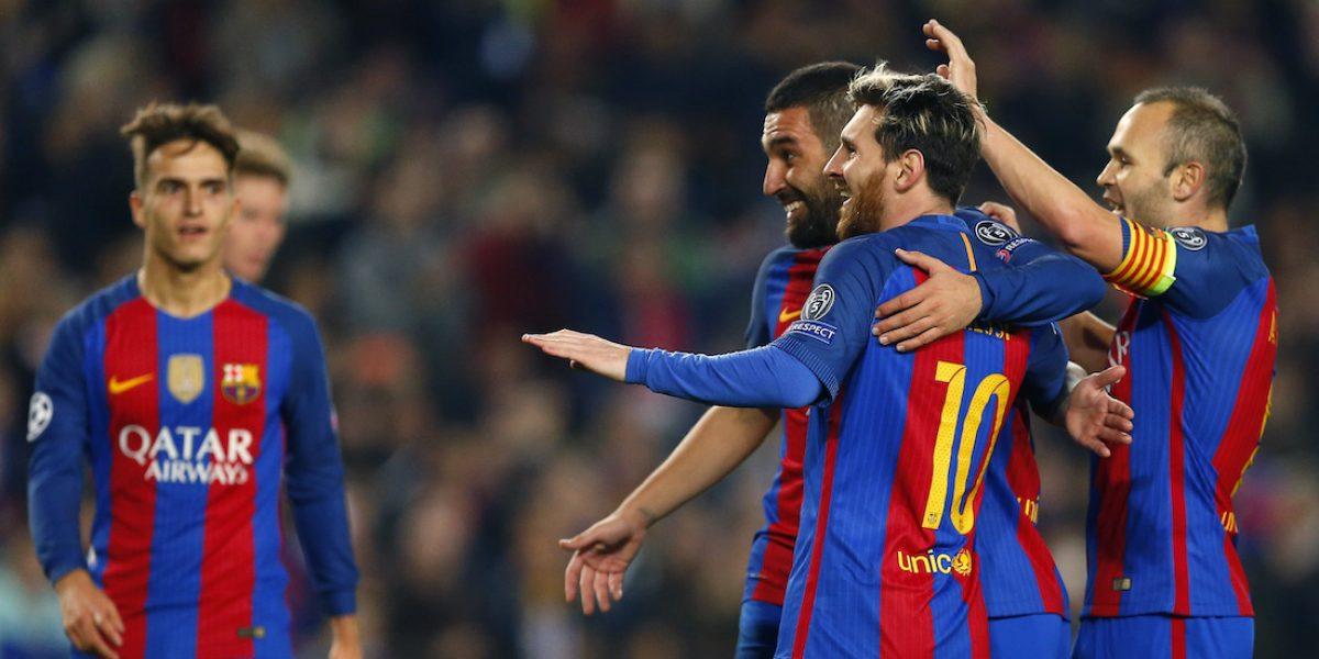 Barcelona golea al Mönchengladabach con gran actuación de Turán