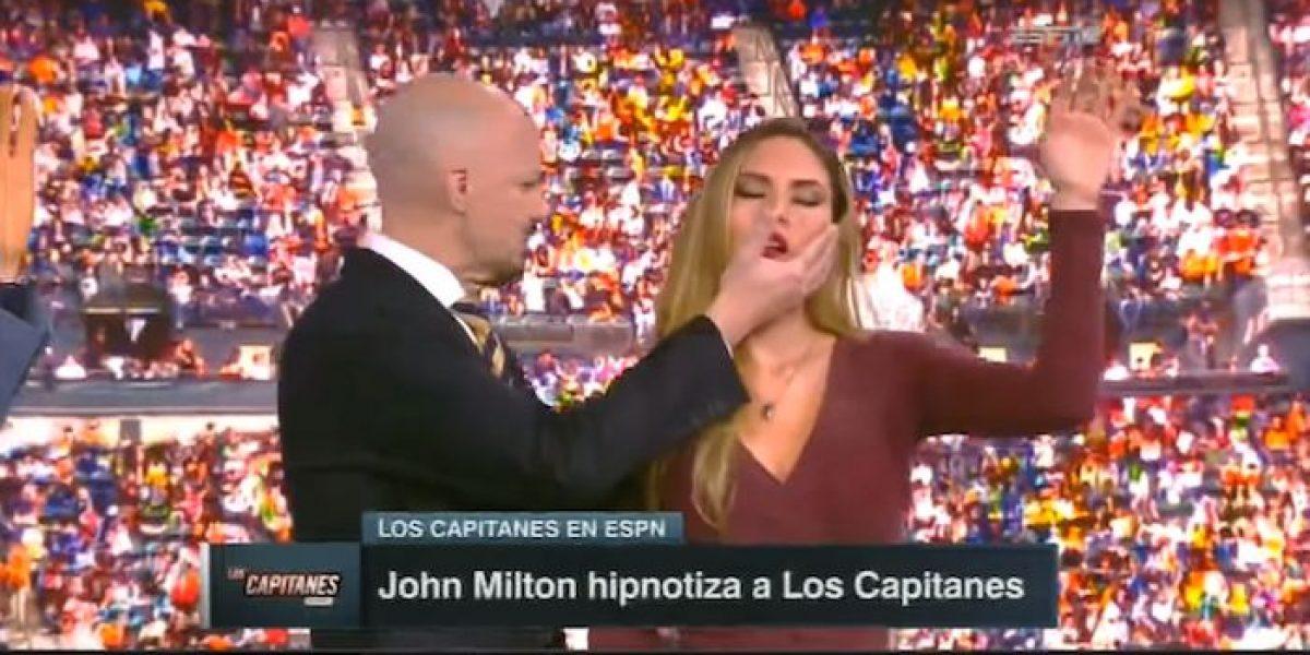 VIDEO: ¡Duérmase! John Milton hipnotiza a comentaristas de ESPN
