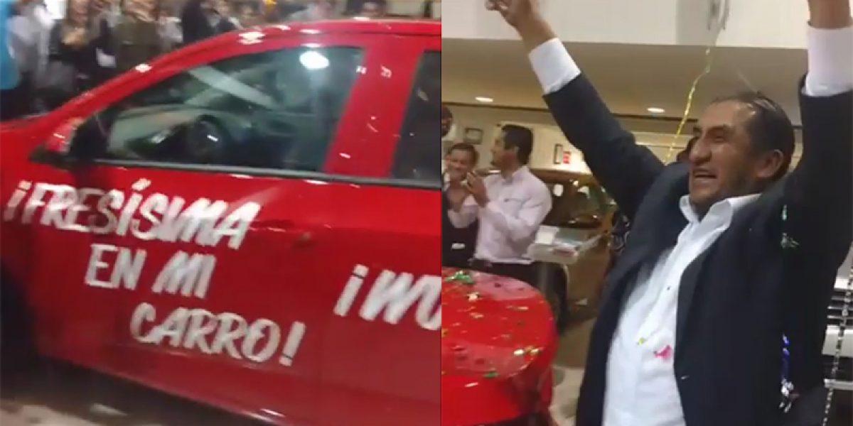 Así recibió Lady Wuuu su auto rojo fresísimo