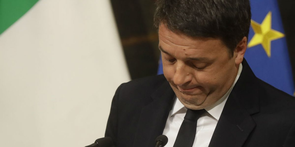 Presidente italiano retrasa dimisión de Renzi hasta que se apruebe presupuesto