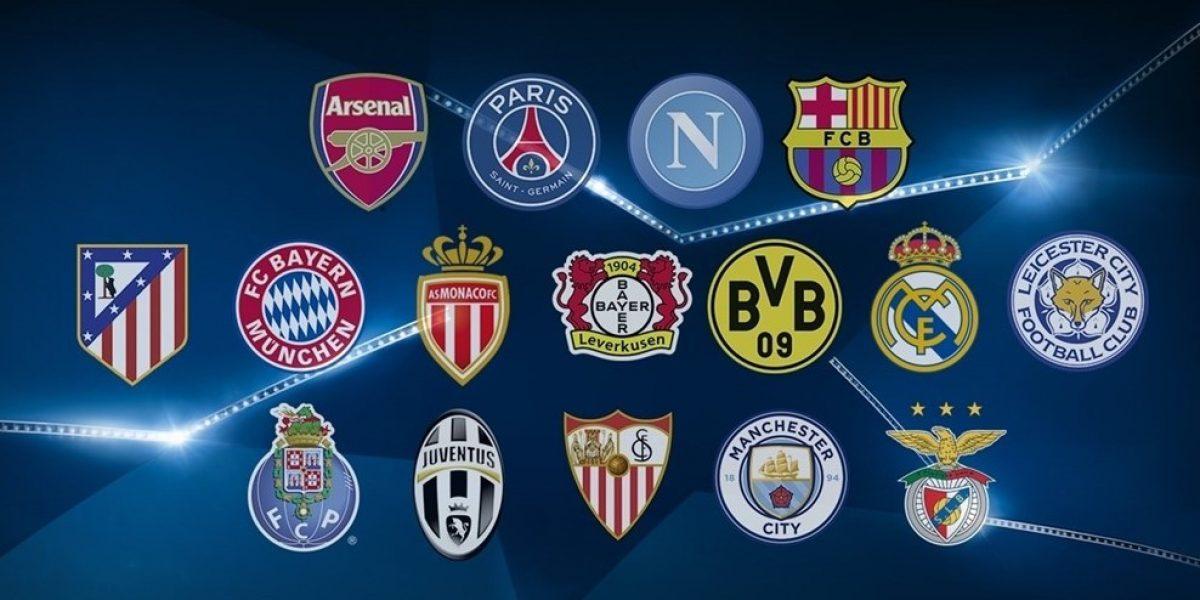 Definidos los 16 equipos que participarán en los octavos de la Champions League