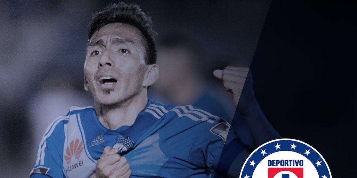 Cruz Azul anuncia el fichaje de Ángel Mena