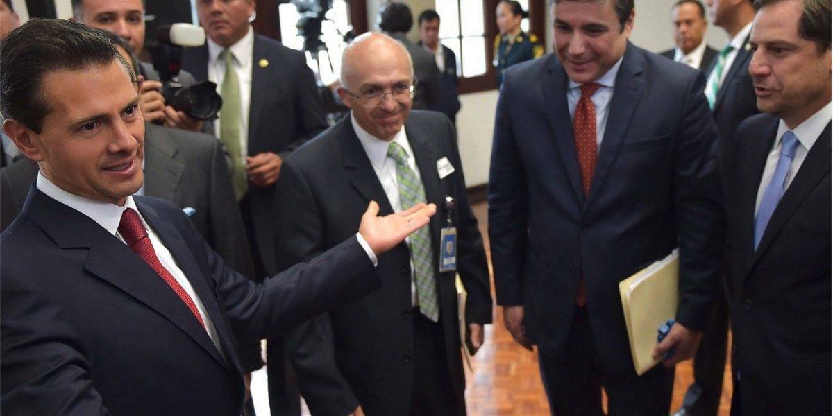 Peña Nieto sostuvo reunión privada con empresarios de Estados Unidos