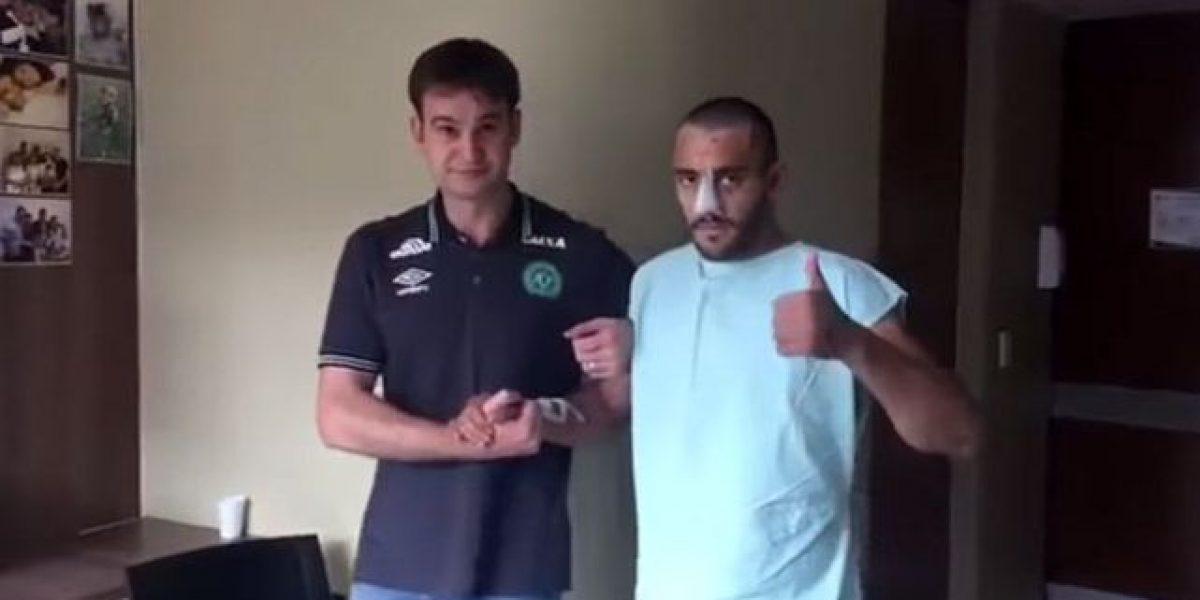 VIDEO: Jugador del Chapecoense reaparece caminando y agradece muestras de apoyo