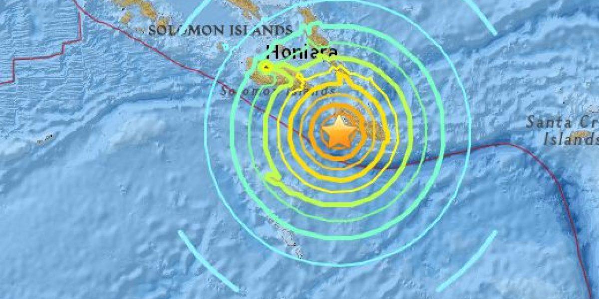 Sismo magnitud 7.8 en las Islas Salomón, alerta de tsunami en Hawái