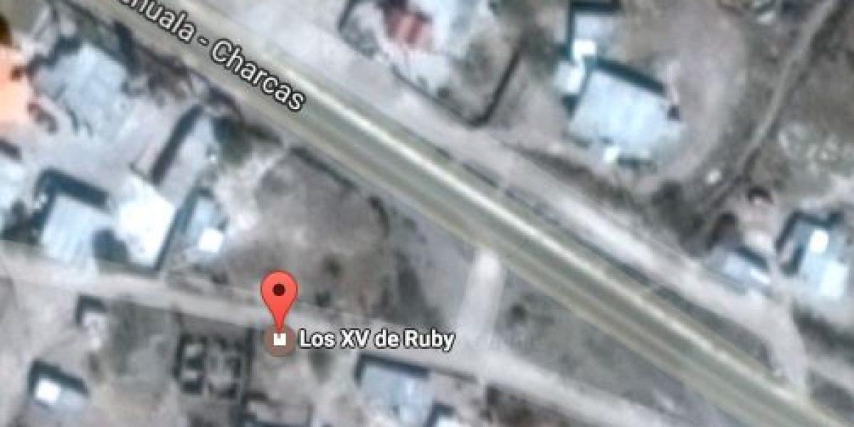 Google Maps te dice cómo llegar a los XV años de Rubí