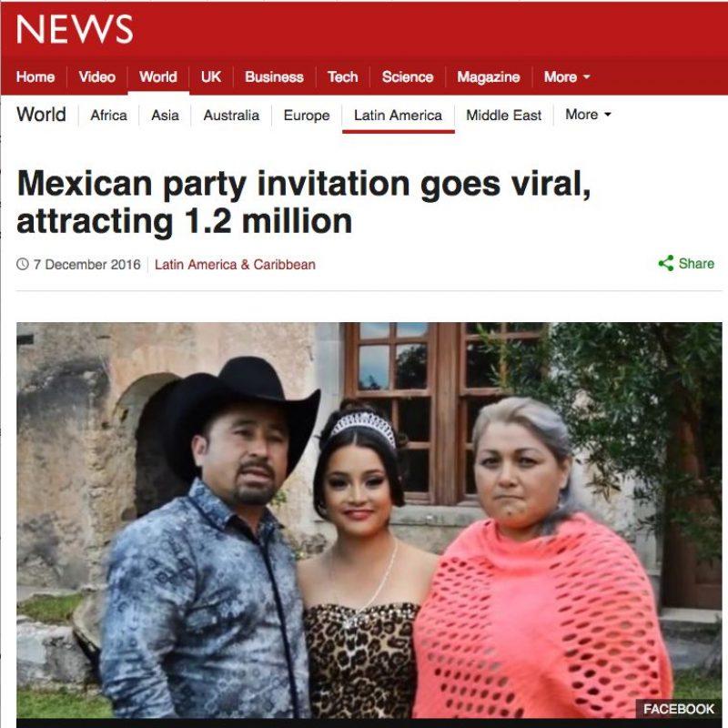 Los XV años de Rubí en medios internacionales. Imagen Por: BBC - Reino Unido | Foto: Captura de pantalla