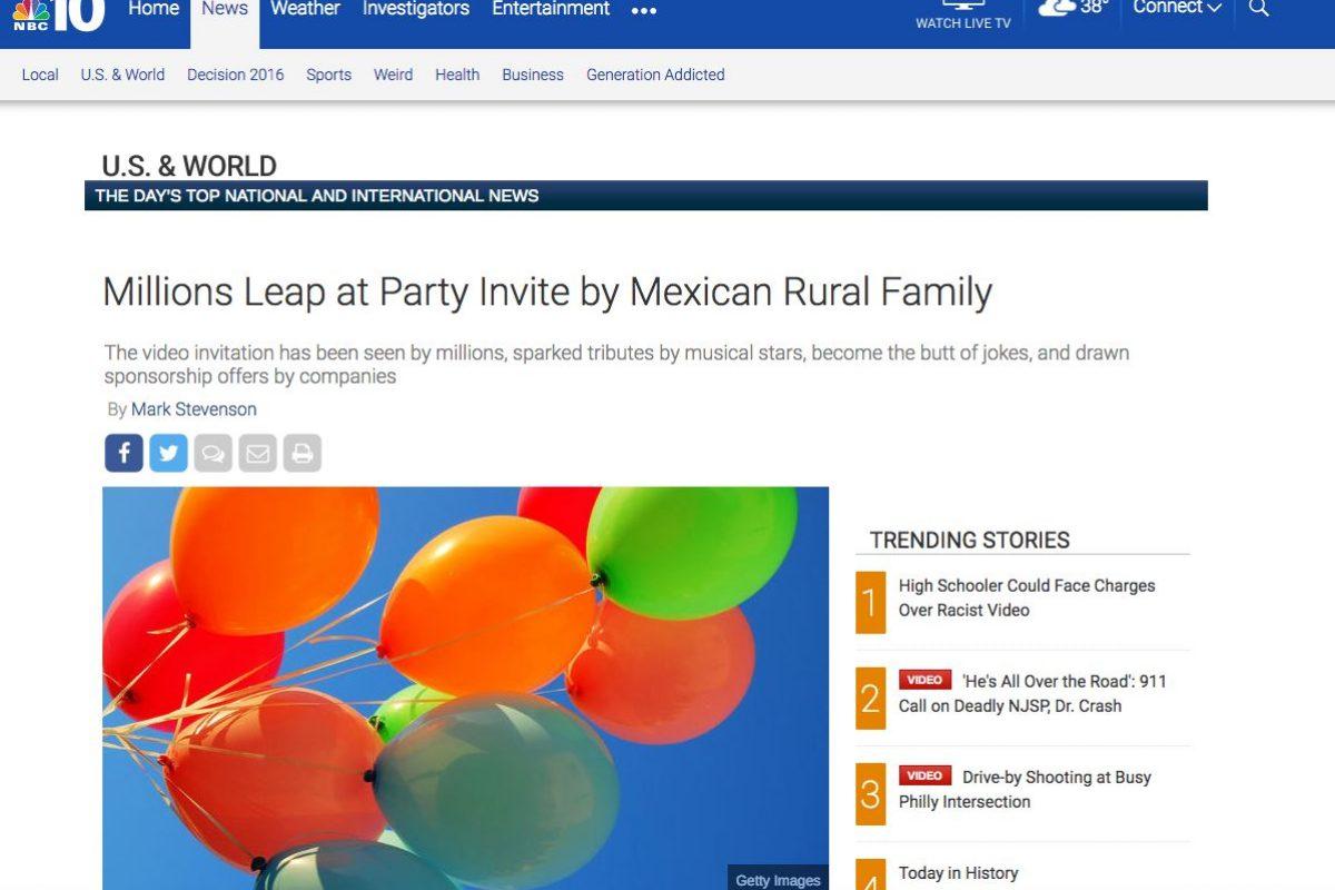 Los XV años de Rubí en medios internacionales. Imagen Por: NBC - Estados Unidos | Foto: Captura de pantalla
