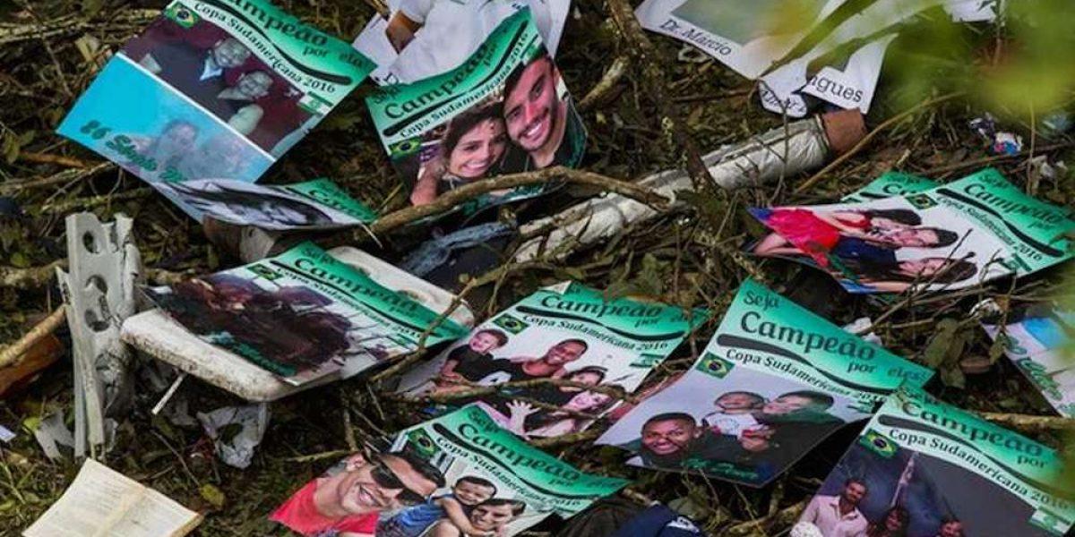 Encuentran carteles motivacionales para el Chapecoense entre los restos del avión