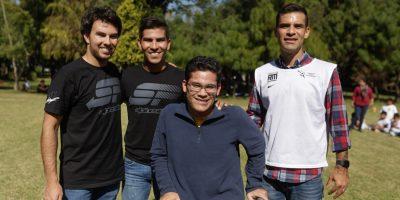 rafael_marquez_checo_perez_1. Imagen Por: Ambos deportistas convivieron con los pequeños de sus respectivas fundaciones|FOTOS JDS
