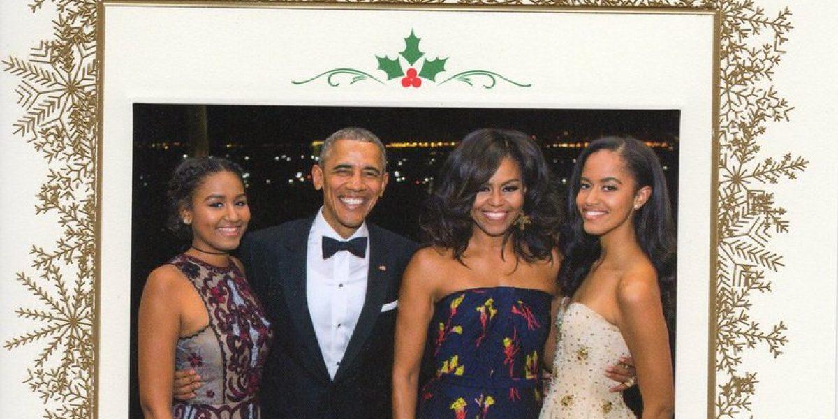 Esta es la última tarjeta navideña de los Obama en la Casa Blanca