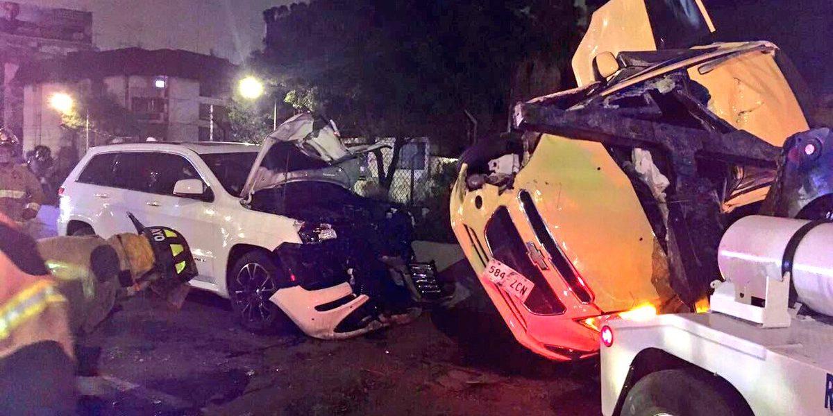 6 lesionados tras fuerte choque en Calzada de Tlalpan