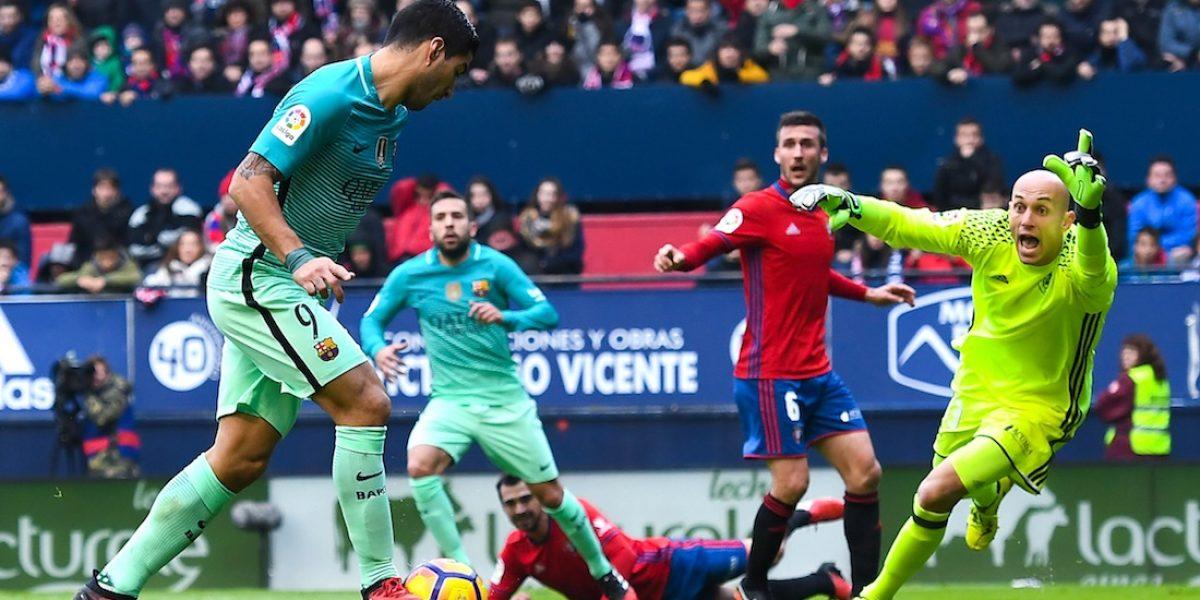 Barcelona vence al Osasuna y se acerca al Madrid en la tabla