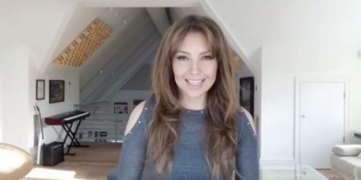 Thalía regala video con el tema