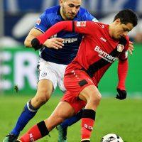 """© 2016 Getty Images. Imagen Por: Victoria del Bayer Leverkusen pero """"Chicharito"""" se vuelve a ir en blanco./GettyImages"""