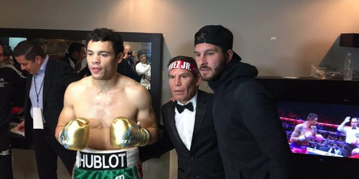 André-Pierre Gignac estuvo presente en la pelea de Julio César Chávez Jr.