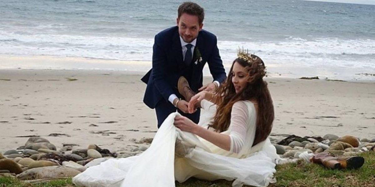 Así fue la boda Troian Bellisario y Patrick J Adams