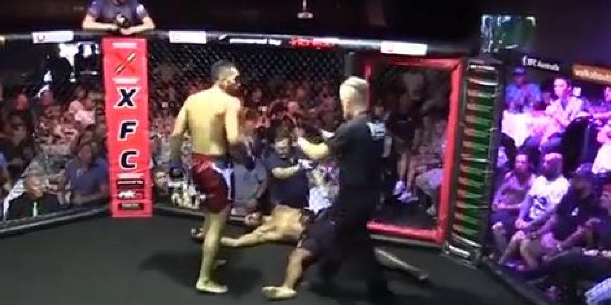VIDEO: Peleador se desmaya en plena competencia