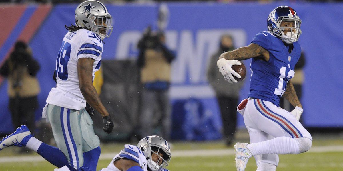 Los Giants ponen fin a la racha de victorias de Dallas
