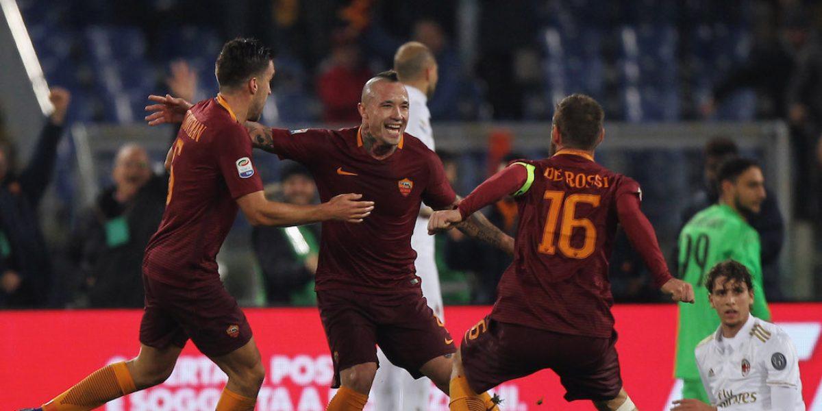 La Roma supera al Milán y se queda con la segunda plaza de la Serie A