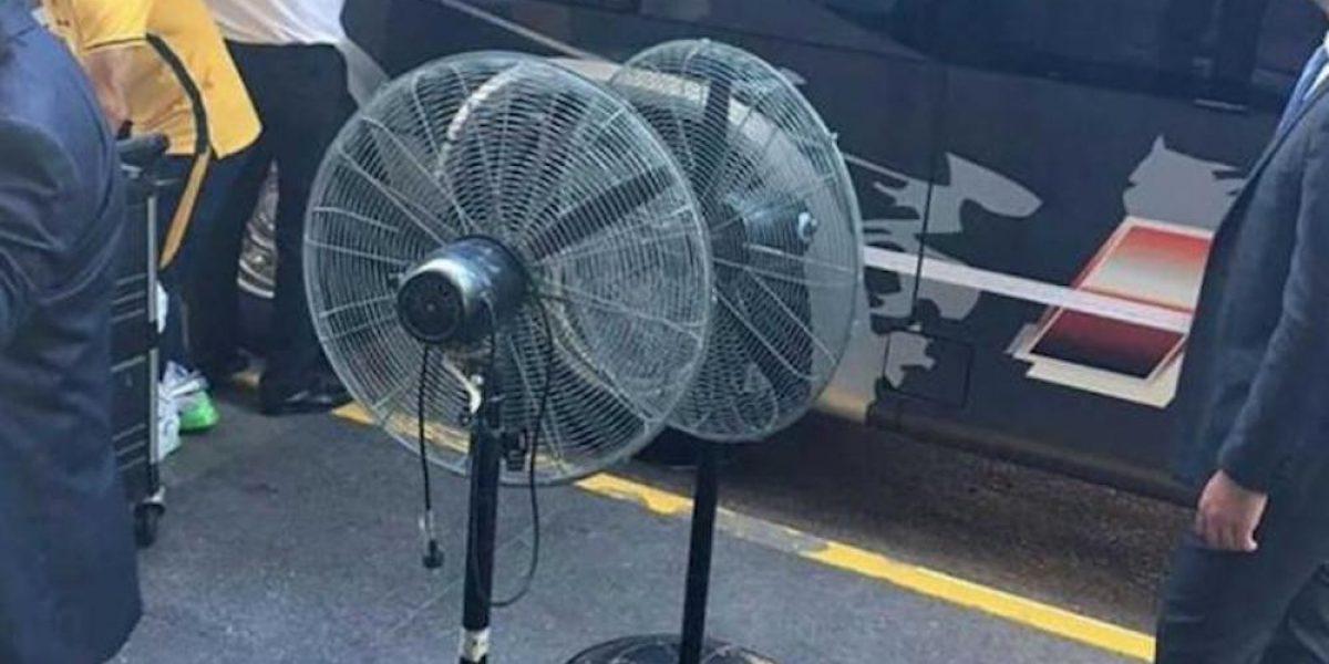 ¡Qué extraño! Boca Juniors utilizó ventiladores propios por una falla en el aire acondicionado del vestidor