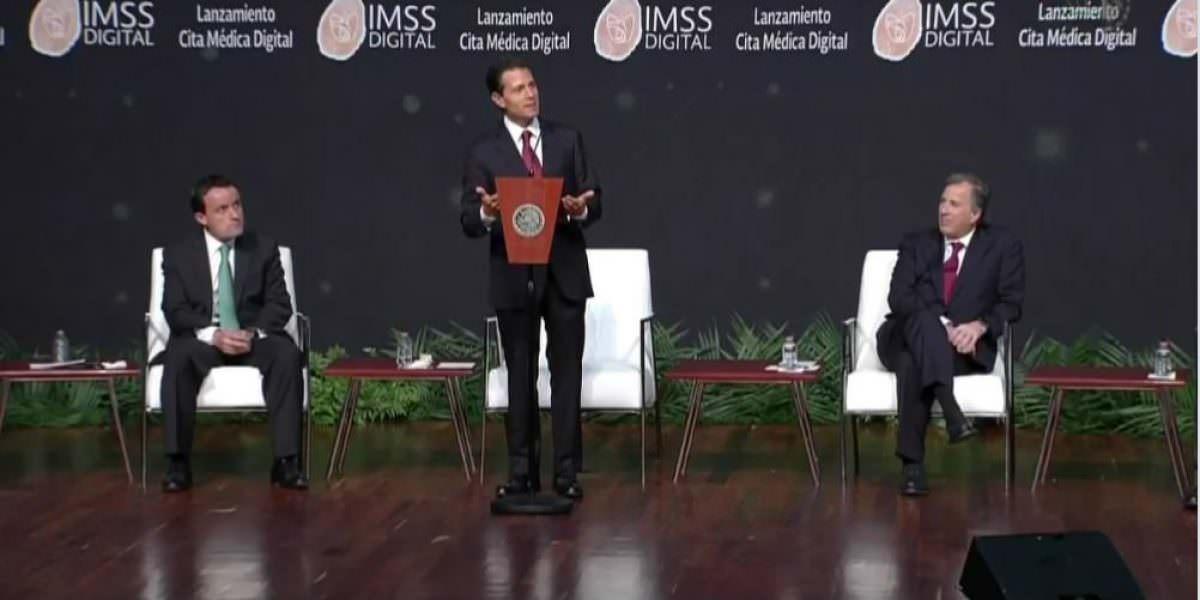 Peña Nieto lanza cita médica digital; ahorrará tiempo en el IMSS