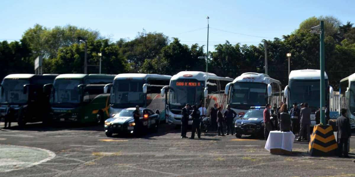 Implementan operativo de seguridad en Terminal de Autobuses del Sur