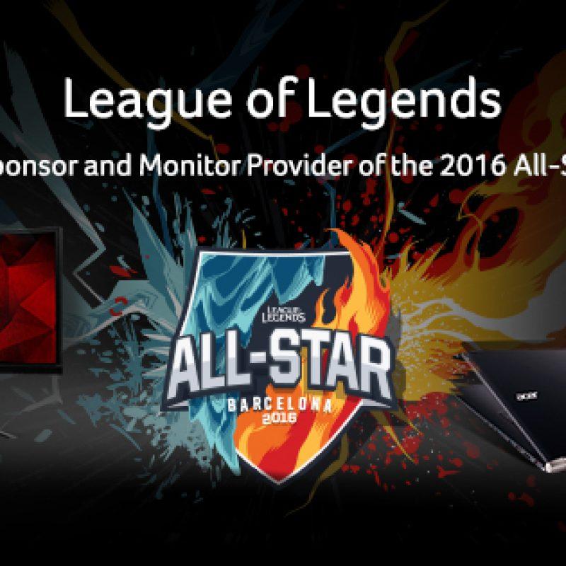 Acer fue nombrada Patrocinador oficial del campeonato mundial de League of Legends 2016 y del All Star 2016 encargándose de proveer al evento de monitores Predator XB241H.. Imagen Por: Foto: ACER