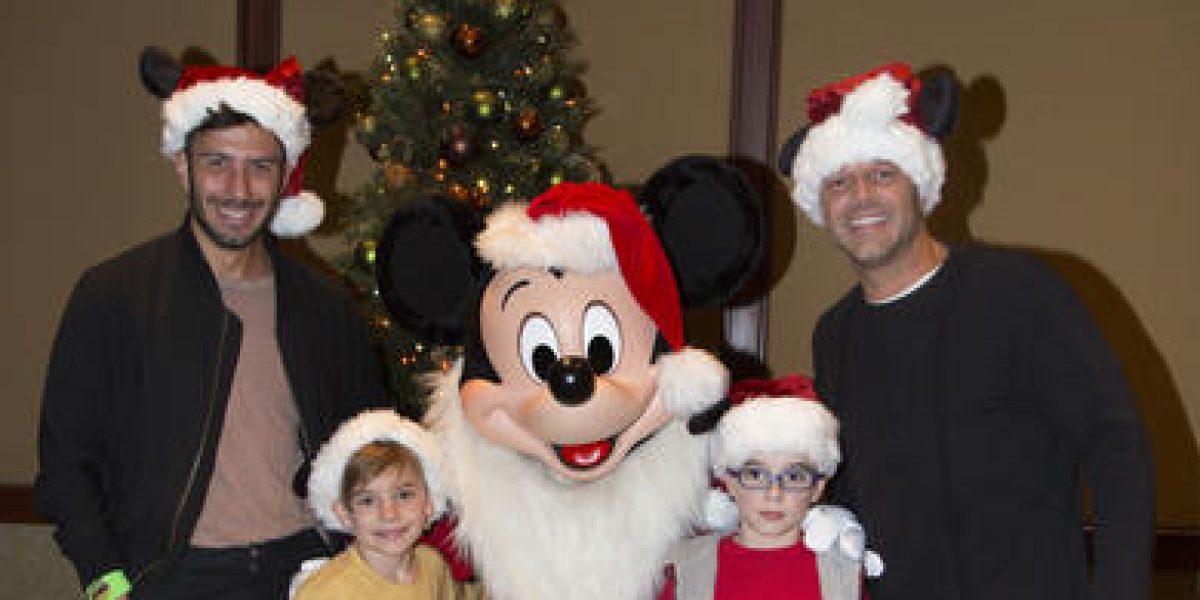 Ricky Martin disfruta de la Navidad con sus hijos y su novio