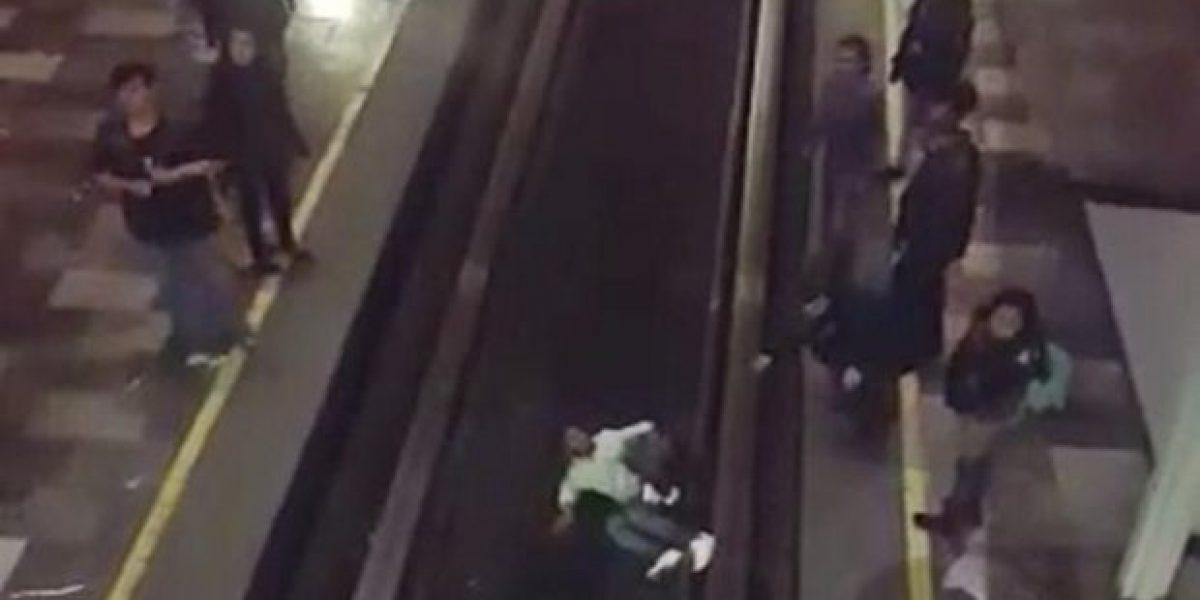Hombre cae a las vías del Metro Chabacano y sobrevive