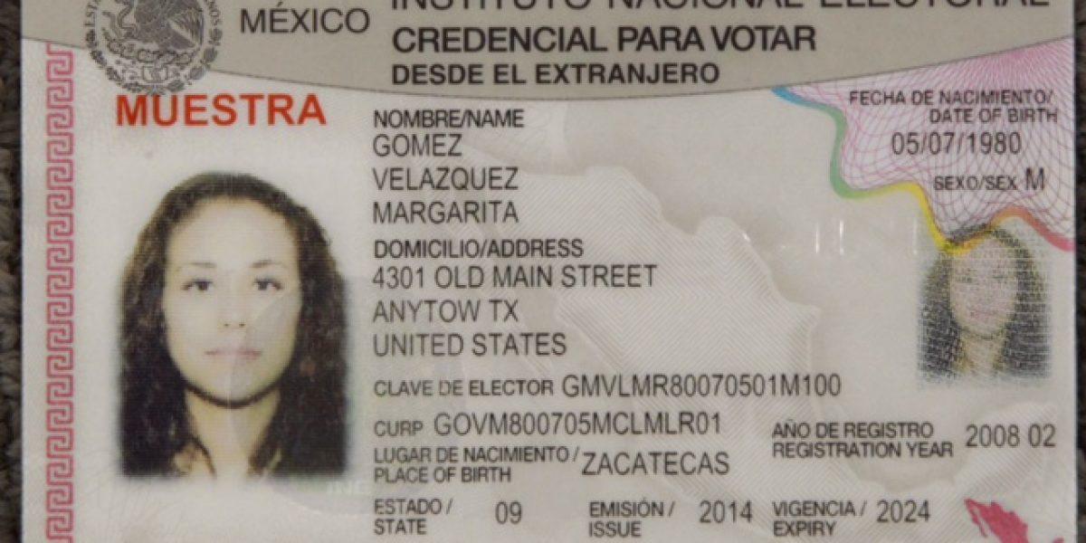 Sólo 10% de los mexicanos activaron credencial para votar en el exterior