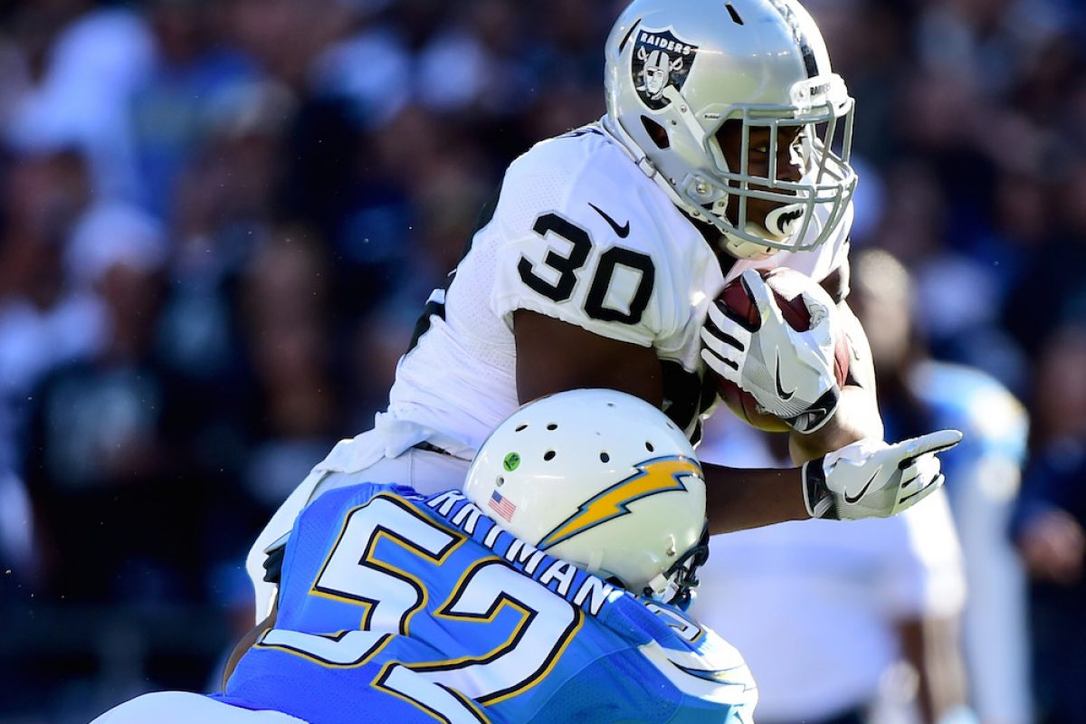 © 2016 Getty Images. Imagen Por: Raiders 19-16 Chargers. / Getty Images