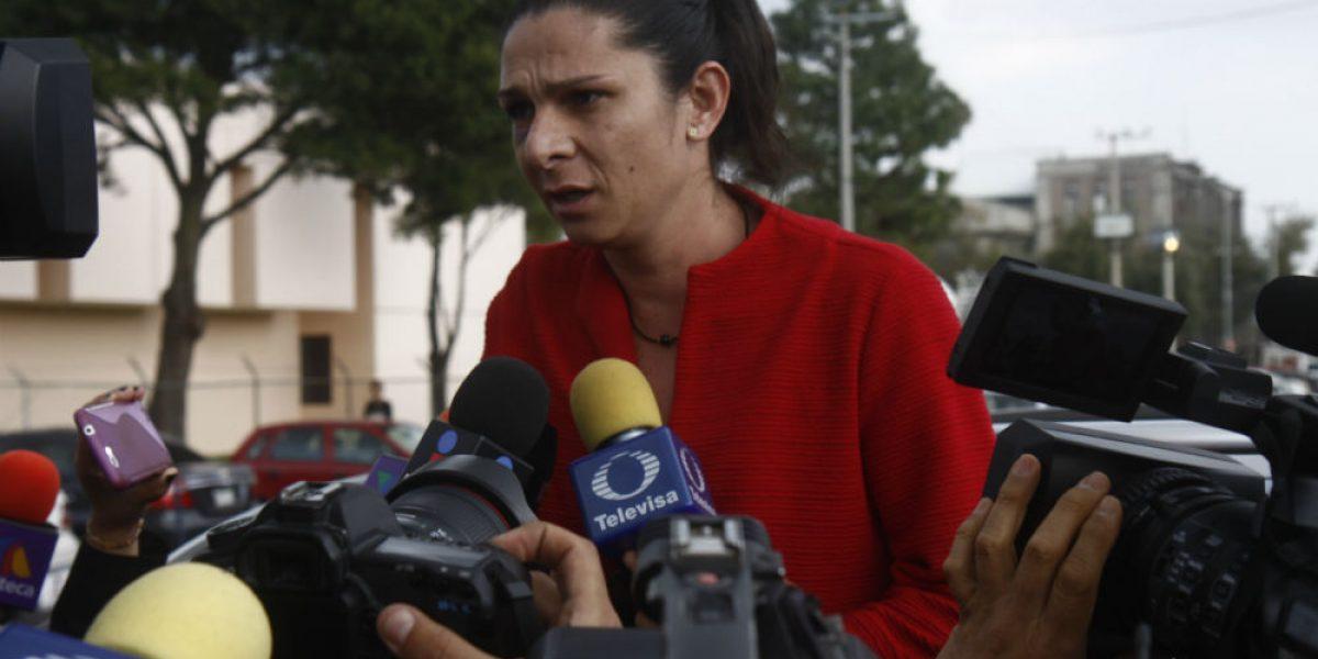 Ana Guevara identifica ante PGR camioneta de agresores
