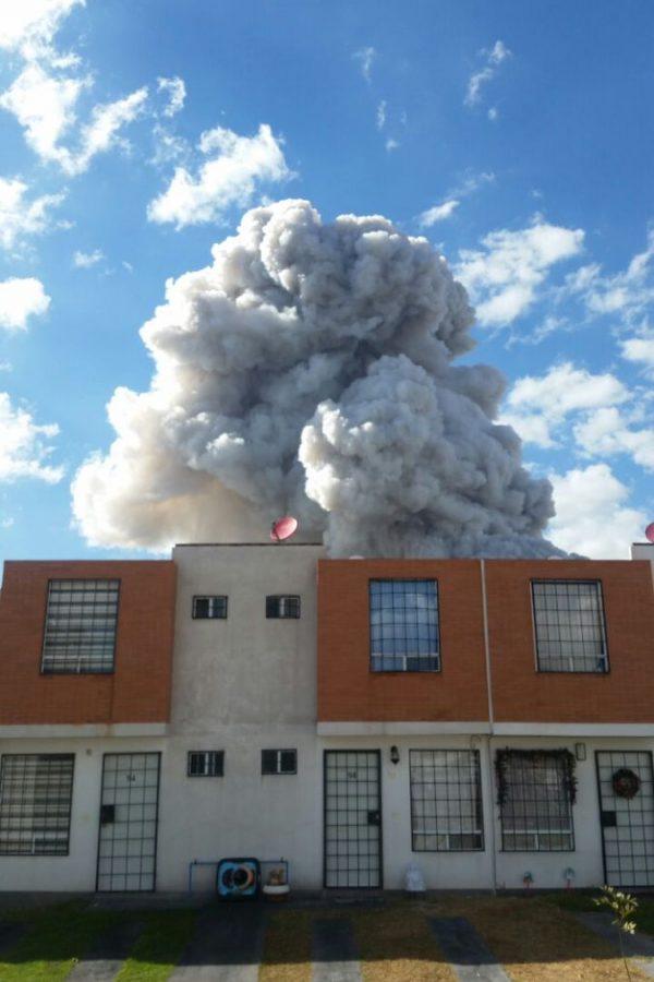 Explosión en Tultepec. Imagen Por: Explosión en Tultepec |Foto. Omar Hernandez @her_nandezomar