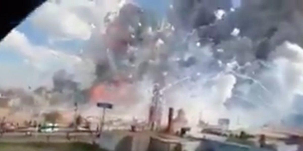 VIDEO: Captan momento exacto de explosión en Tultepec