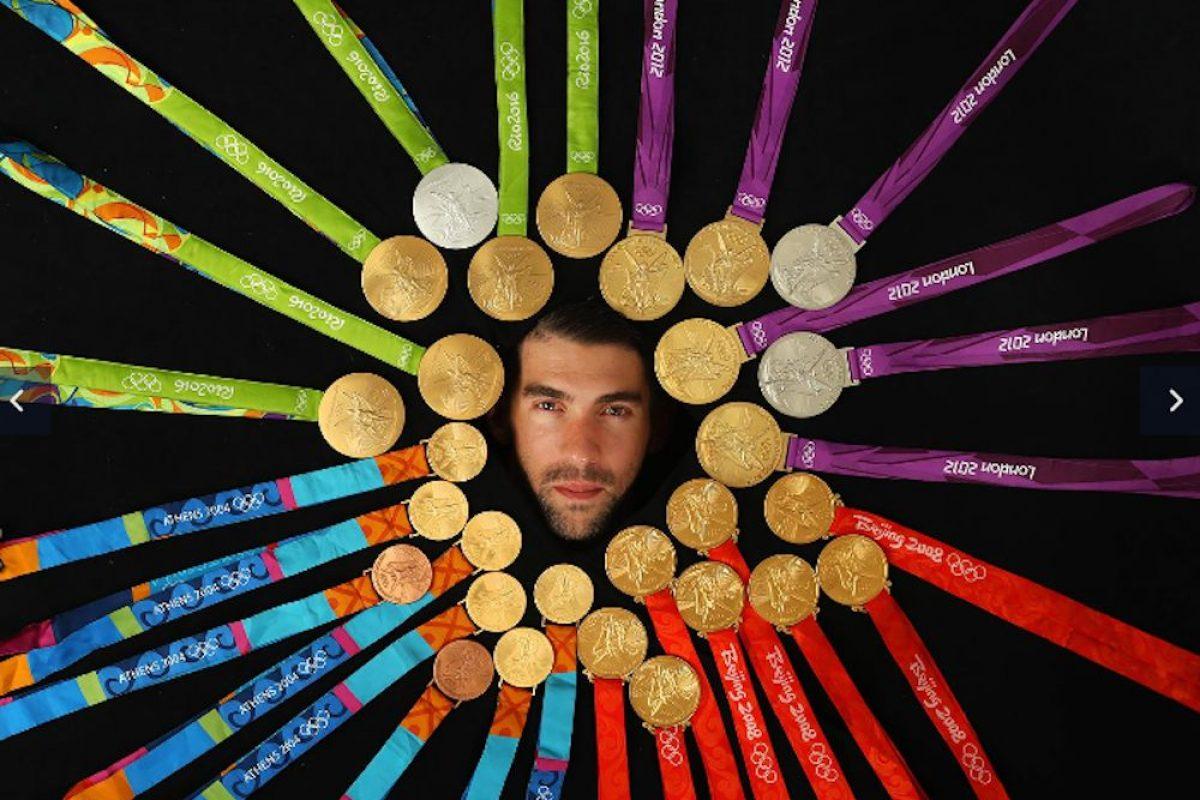 . Imagen Por: Michael Phelps presume sus 28 medallas olímpicas. /Sports Illustrated