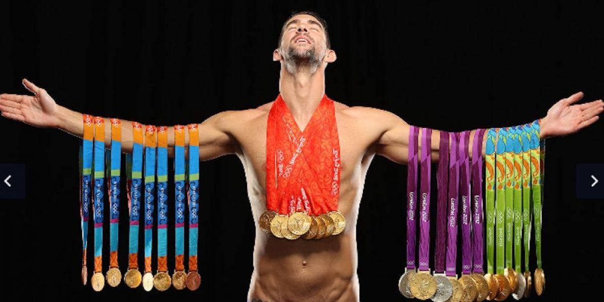 Michael Phelps presume sus 28 medallas olímpicas