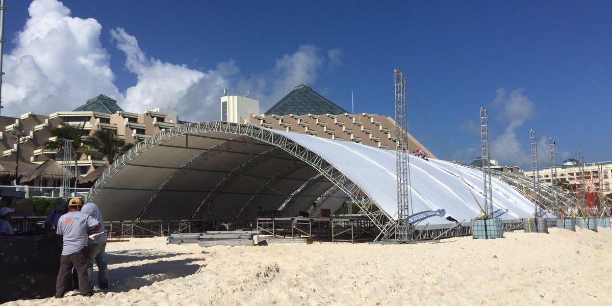 Zofemat otorga permiso para evento en playa de Cancún habitada por tortugas